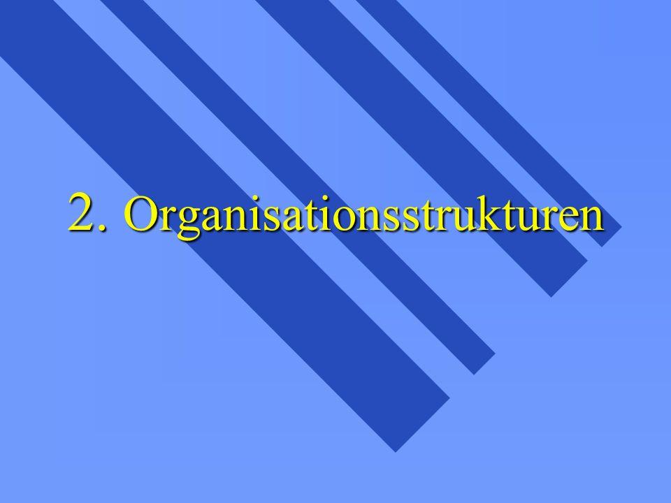 2. Organisationsstrukturen