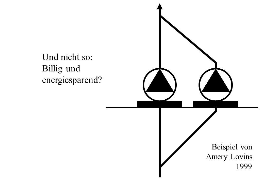 Und nicht so: Billig und energiesparend? Beispiel von Amery Lovins 1999