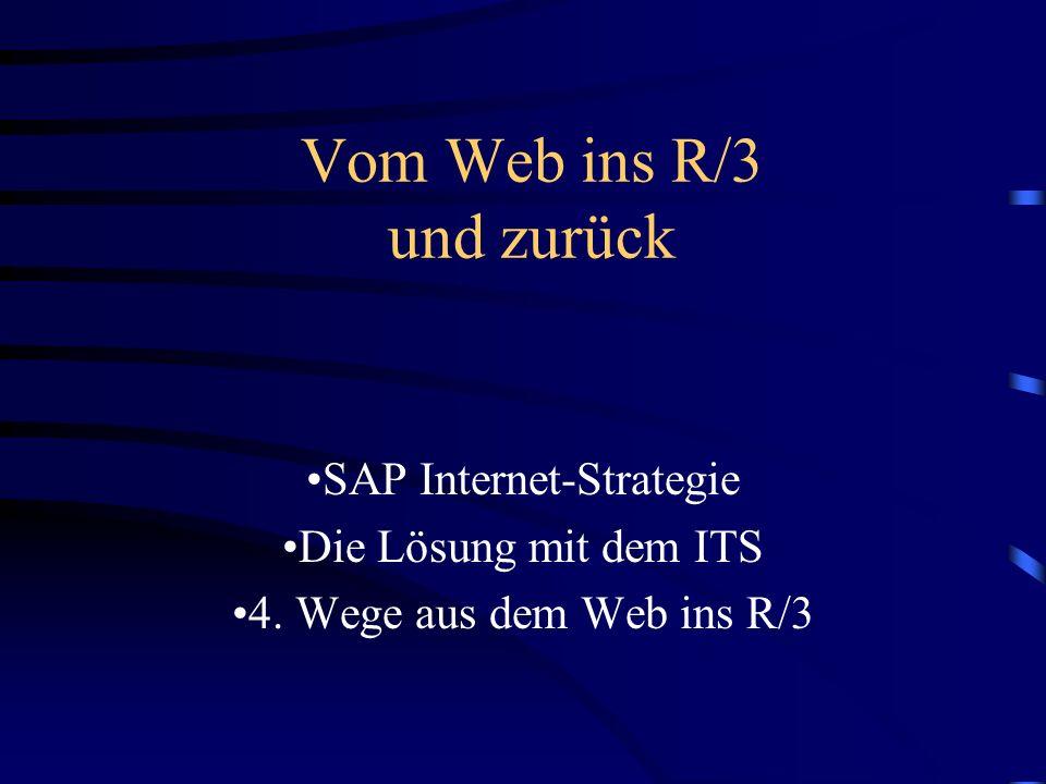 Weiter mit... Einführung und Grundlagen (Heiko Hofele) SAP@Web-Studio und HTML-Business (Jochen Stümpfig) Entwicklung einer Internet Application Compo