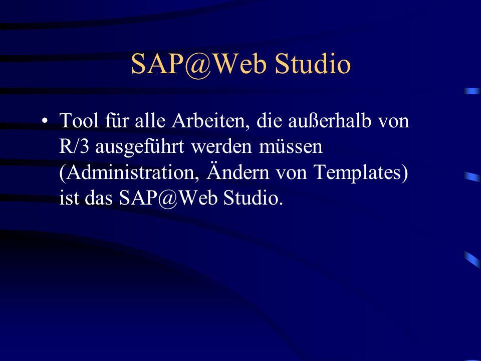 IAC´s mit DIAG-Schnittstelle(4) Web Anwendungen mit DIAG-Schnittstelle bestehen also aus R/3-IAC und HTML-Business-,Service-Files usw. im ITS Die Gest