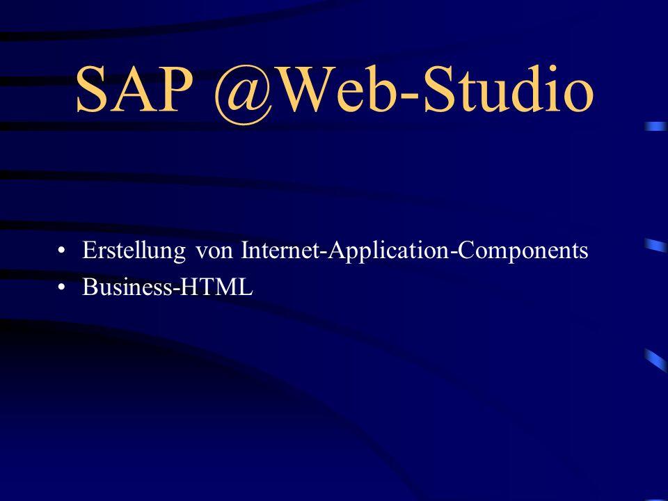 Weiter mit... Einführung und Grundlagen (Heiko Hofele) Der Weg vom Web ins R/3 und zurück (Volker Lindenbacher) Entwicklung einer Internet Application