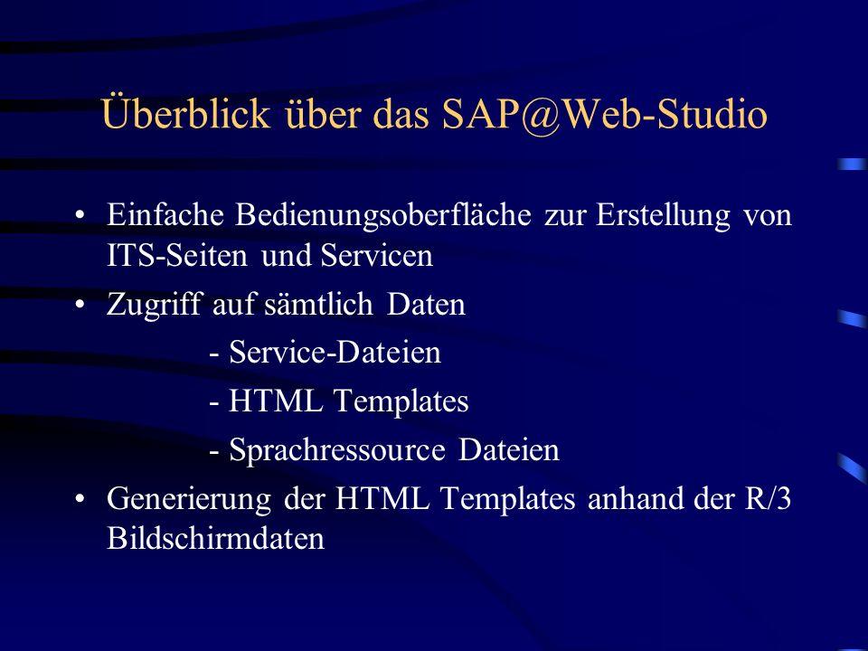 Komponenten der Entwicklungsumgebungen SAP Entwicklungsumgebung Das R/3 Programm wird normal in der Entwicklungsumgebung von SAP entwickelt und getest