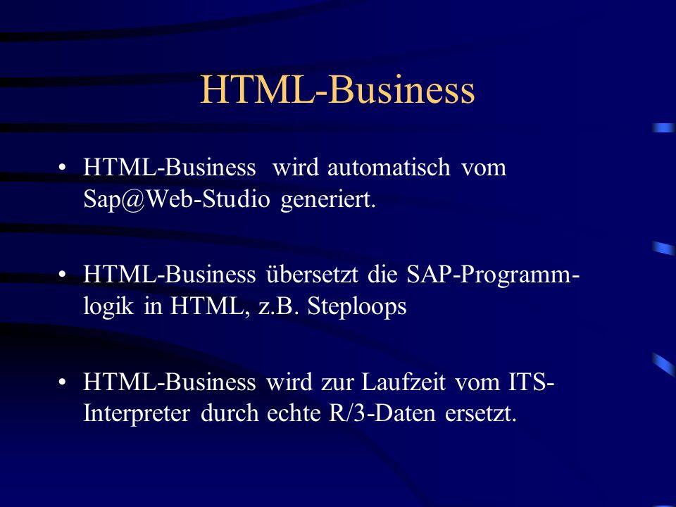 HTML-Business Dynamische Einbindung von Daten aus einem R/3-Dynpro in HTML-Seiten