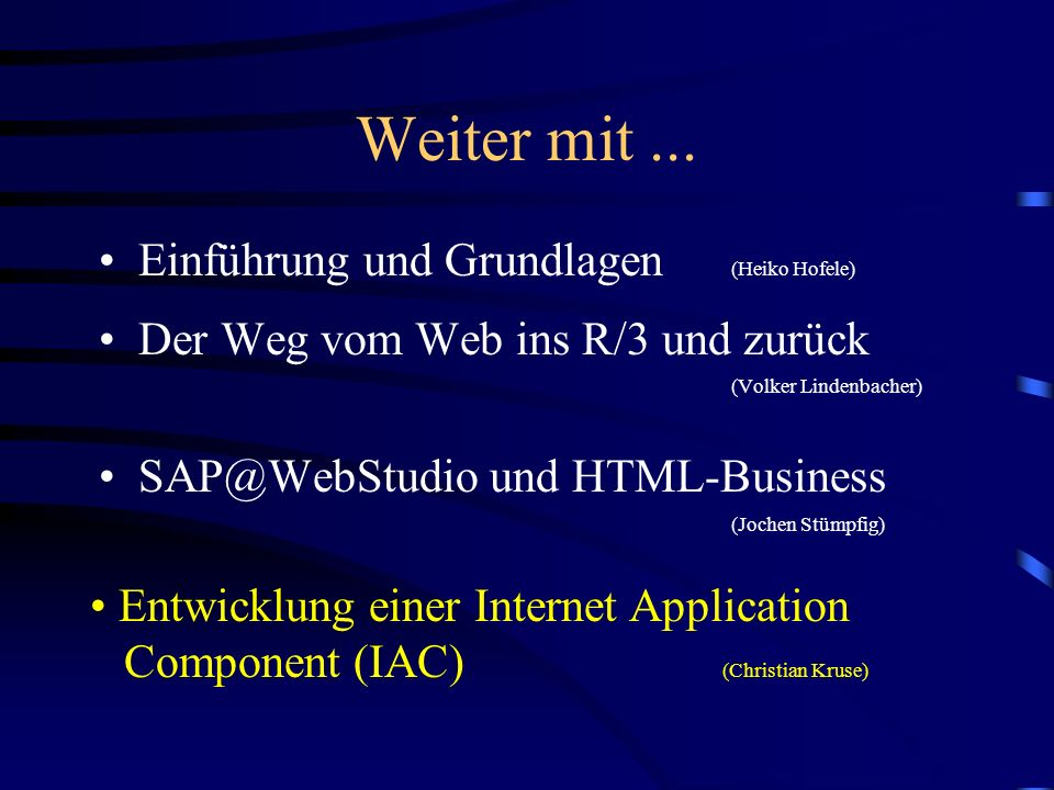 HTML-Business: Feld-Attribute Mögliche Feld-Attribute - DIM - LABEL - MAXSIZE - VISSIZE - DISABLED