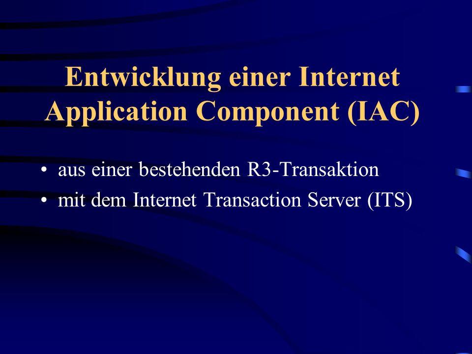 Weiter mit... Einführung und Grundlagen (Heiko Hofele) Der Weg vom Web ins R/3 und zurück (Volker Lindenbacher) SAP@WebStudio und HTML-Business (Joche