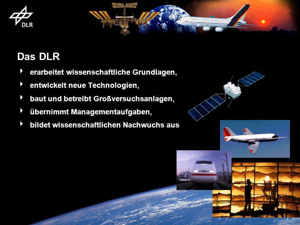 Das DLR erarbeitet wissenschaftliche Grundlagen, entwickelt neue Technologien, baut und betreibt Großversuchsanlagen, übernimmt Managementaufgaben, bi