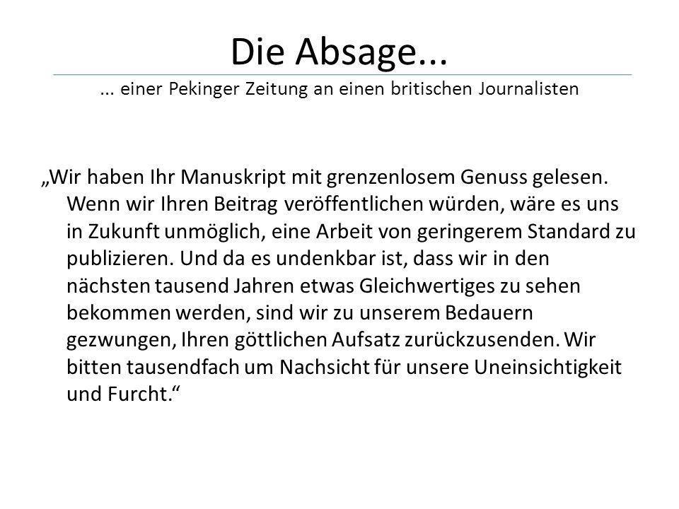 Die Absage......
