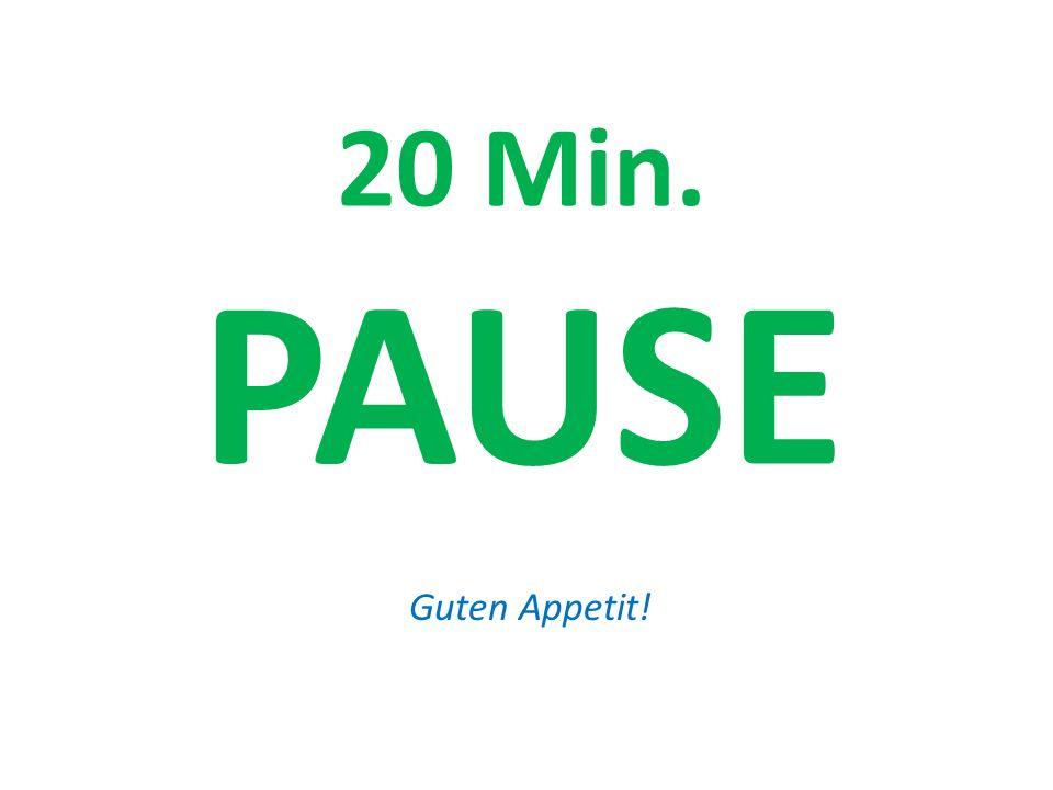 20 Min. PAUSE Guten Appetit!