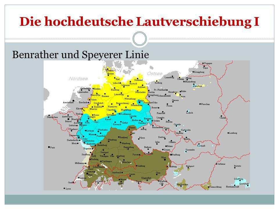 Die hochdeutsche Lautverschiebung II