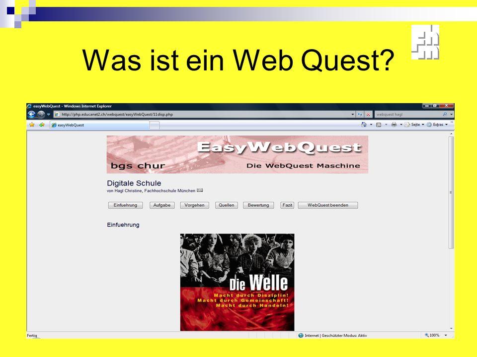 Was ist ein Web Quest?