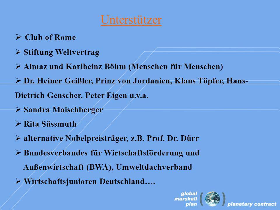 Club of Rome Stiftung Weltvertrag Almaz und Karlheinz Böhm (Menschen für Menschen) Dr.