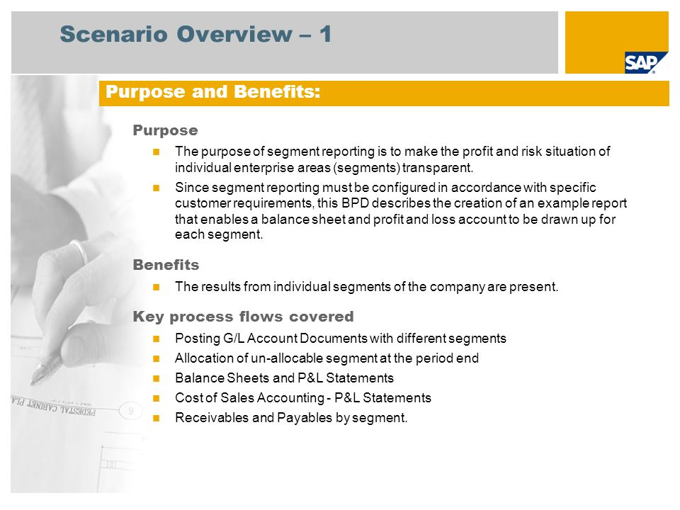 Scenario Overview – 2 Required SAP enhancement package 3 for SAP ERP 6.0 Company roles involved in process flow Finance Manager SAP Applications Required: