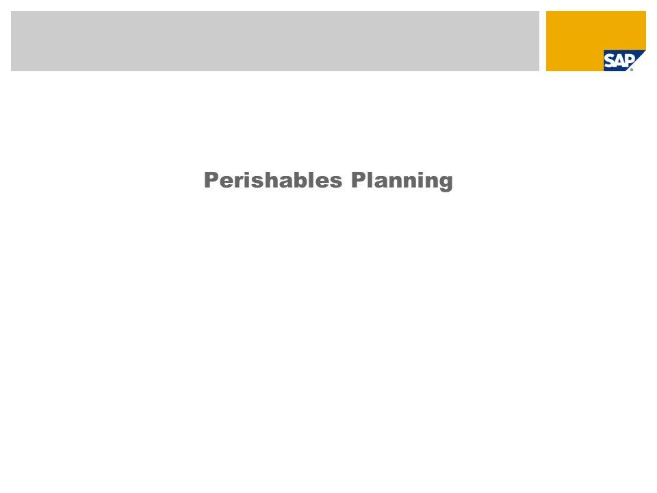 Perishables Planning