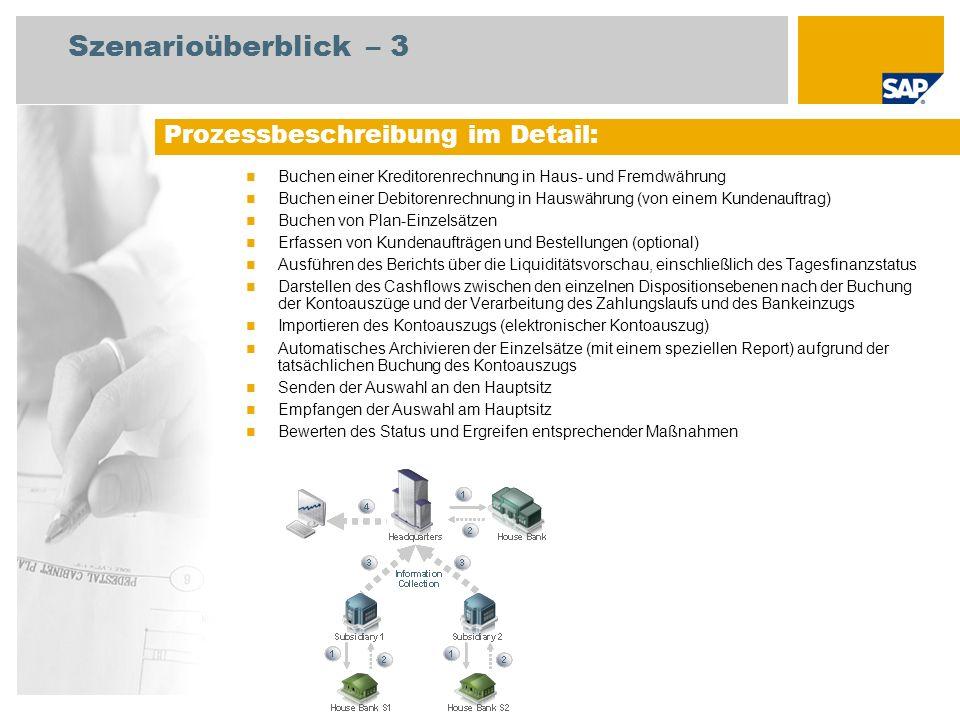 Buchen einer Kreditorenrechnung in Haus- und Fremdwährung Buchen einer Debitorenrechnung in Hauswährung (von einem Kundenauftrag) Buchen von Plan-Einz
