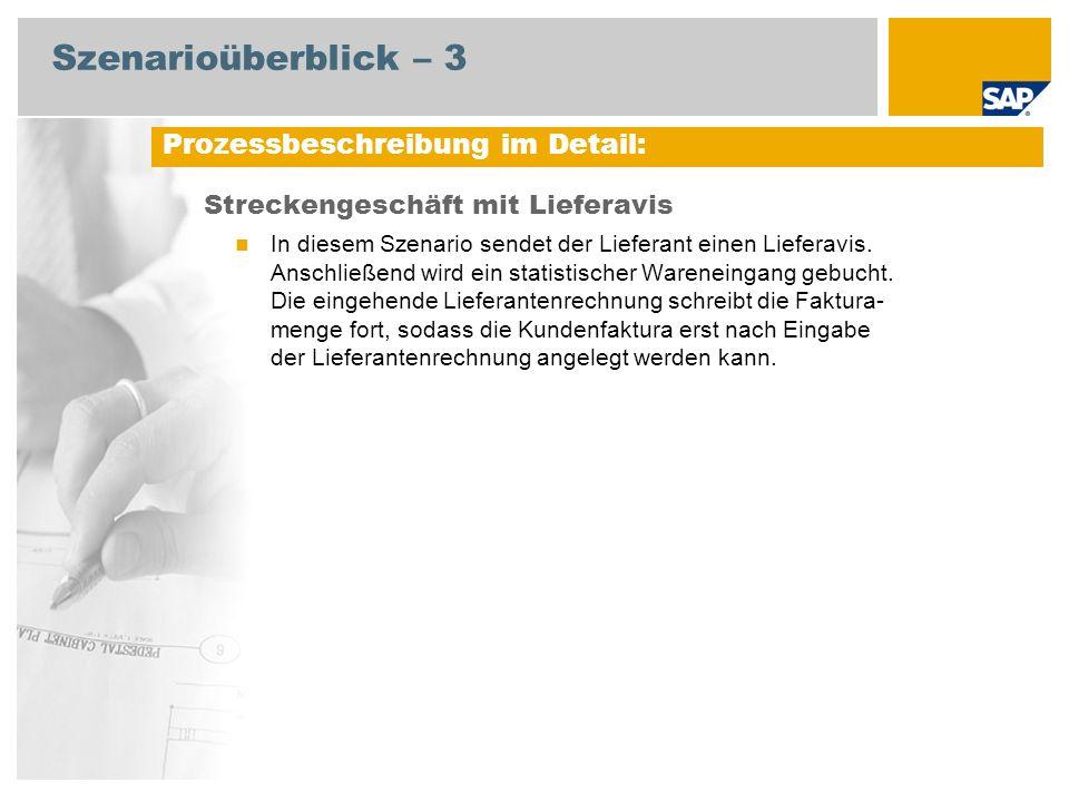 Szenarioüberblick – 3 Streckengeschäft mit Lieferavis In diesem Szenario sendet der Lieferant einen Lieferavis.
