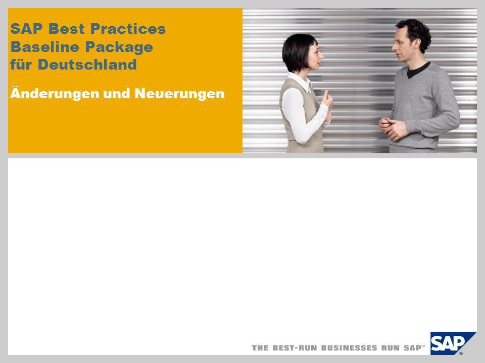 SAP Best Practices Baseline Package für Deutschland Änderungen und Neuerungen