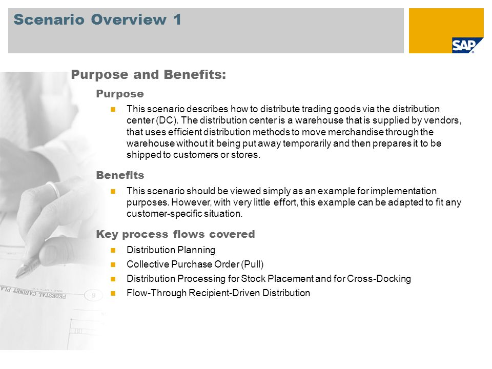 Scenario Overview 2 Required SAP EHP3 for SAP ERP 6.0 Company roles involved in process flows Retail Replenishment Planner Retail Replenishment Planner – Power User Retail Seasonal Purchaser Retail Seasonal Purchaser – Power User Retail Non – Seasonal Purchaser Retail Non – Seasonal Purchaser – Power User Retail Perishable Buyer Retail Warehouse Clerk SAP Applications Required: