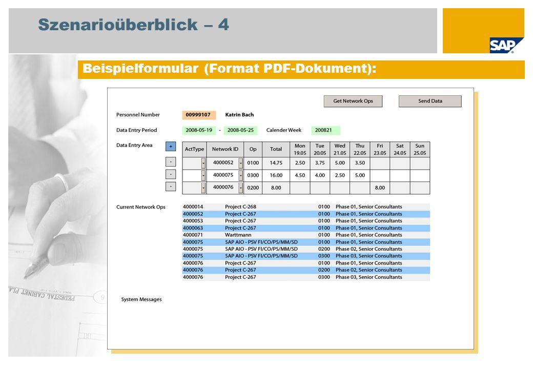 Ablaufdiagramm Offline-Zeiterfassung – Prozessablauf 1: OZE Projekt Projektleiter bei einer Beratungsfirma Administrator (Spezialist) Ereignis Auftrag für ein Projekt wird empfangen Mitarbeiter Projekt aus einer Standardvorlage anlegen OZE-Formular generieren und verteilen E-Mail mit dem OZE-Formular abrufen und speichern Arbeitsvorrat der Netzplan- vorgänge abrufen Arbeitszeiten aufzeichnen Arbeitszeiten an CATS senden Zeiterfassun g CATS (211) Offline E-Mail-ClientAdobe Reader Projektkosten- bericht (Plan/Ist) (CATA – Zeiten übertragen)