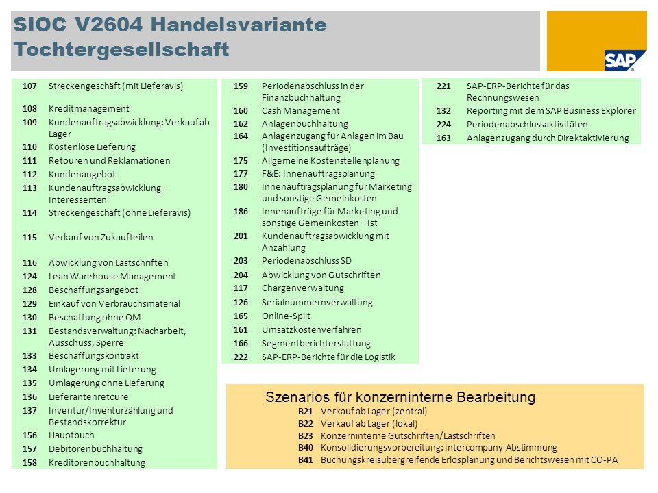 SIOC V2604 Handelsvariante Tochtergesellschaft 221SAP-ERP-Berichte für das Rechnungswesen 132Reporting mit dem SAP Business Explorer 224Periodenabschl