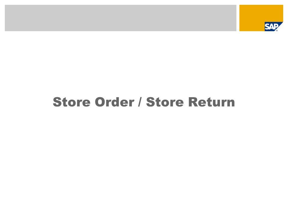 Store Order / Store Return