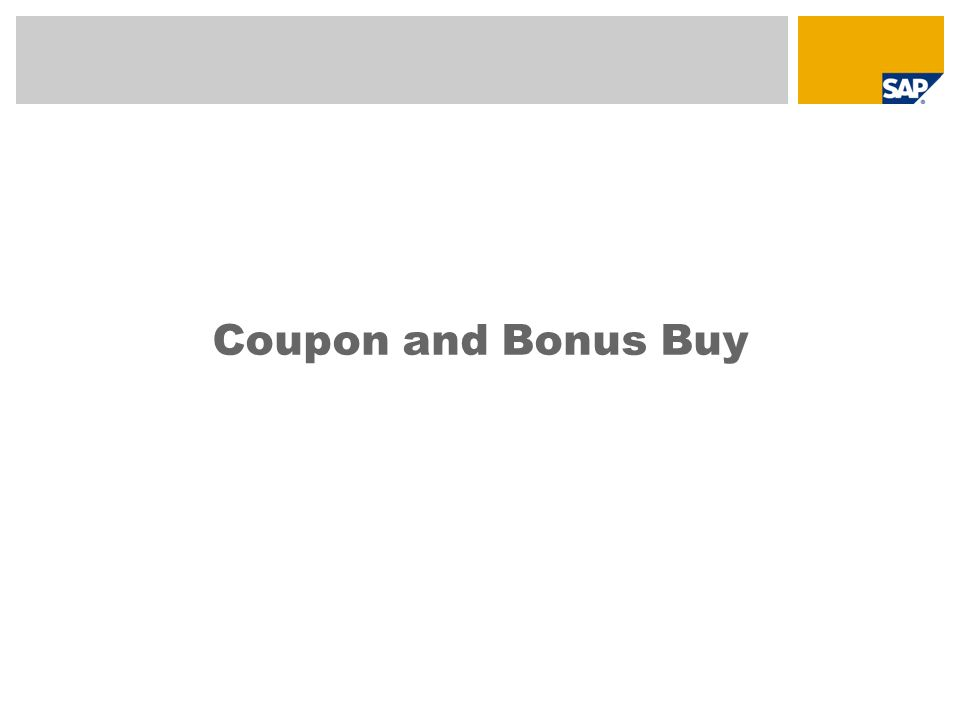 Coupon and Bonus Buy