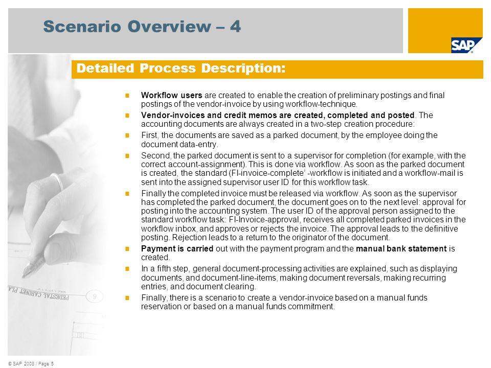© SAP 2008 / Page 6 Process Flow