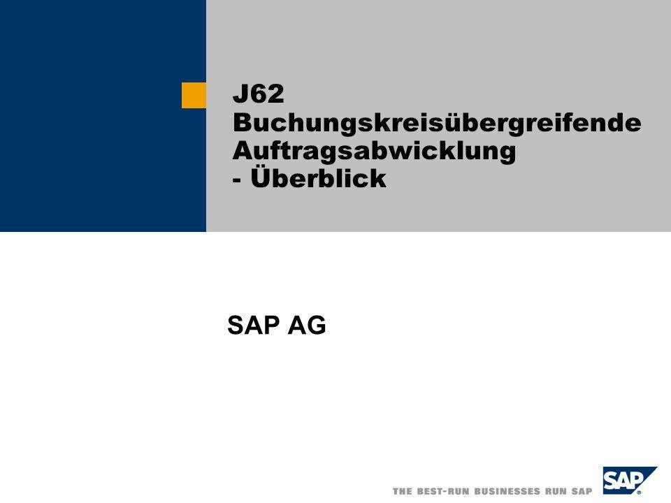 J62 Buchungskreisübergreifende Auftragsabwicklung - Überblick SAP AG
