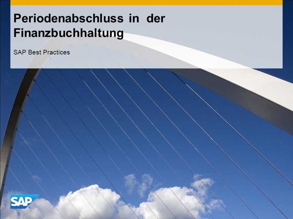Periodenabschluss in der Finanzbuchhaltung SAP Best Practices