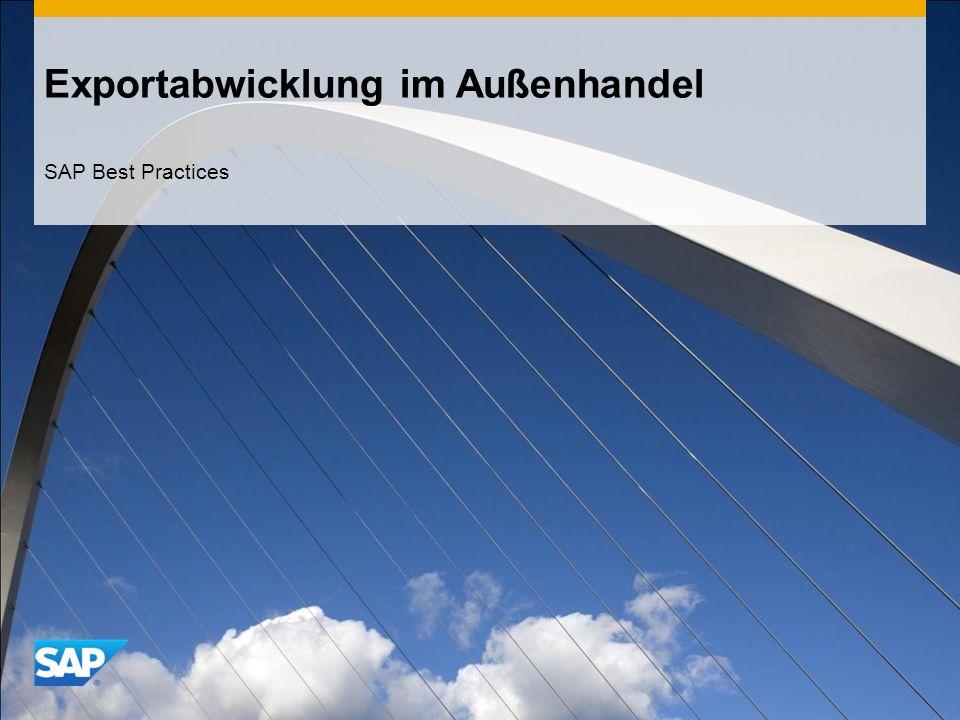 Exportabwicklung im Außenhandel SAP Best Practices