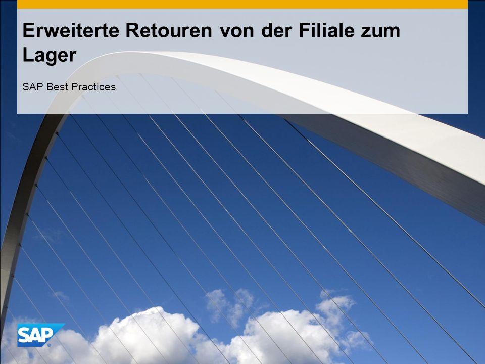 Erweiterte Retouren von der Filiale zum Lager SAP Best Practices