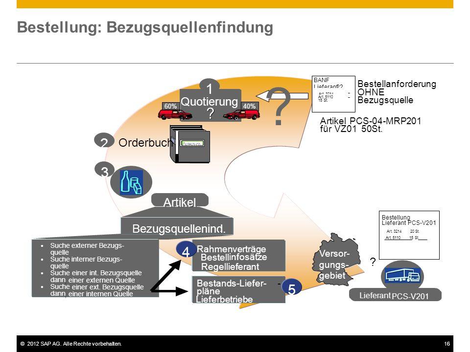 ©2012 SAP AG. Alle Rechte vorbehalten.17 Auftragsabwicklung