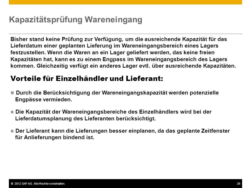 ©2012 SAP AG. Alle Rechte vorbehalten.27 Lieferantenbeurteilung