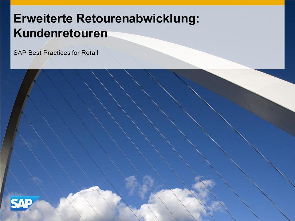Erweiterte Retourenabwicklung: Kundenretouren SAP Best Practices for Retail