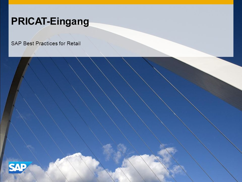 PRICAT-Eingang SAP Best Practices for Retail