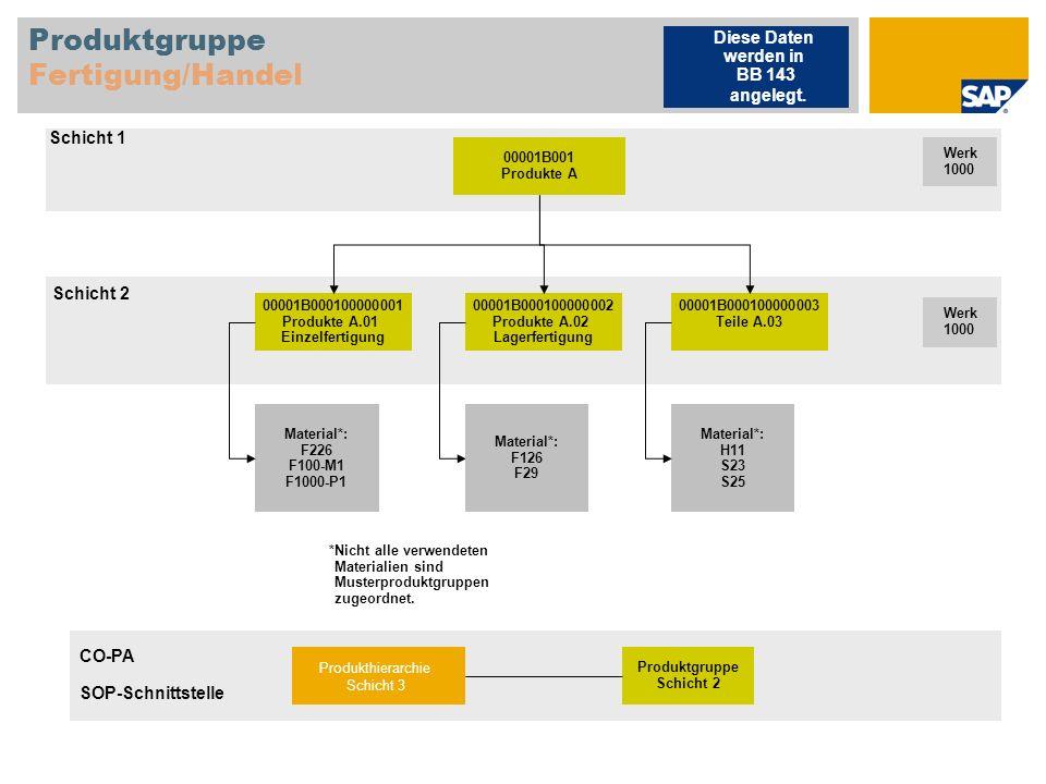 Einzelfertigung (MTO) – ohne Variantenkonfig.Produktstruktur F226 Fertigerzeugnis, Lagerfert.