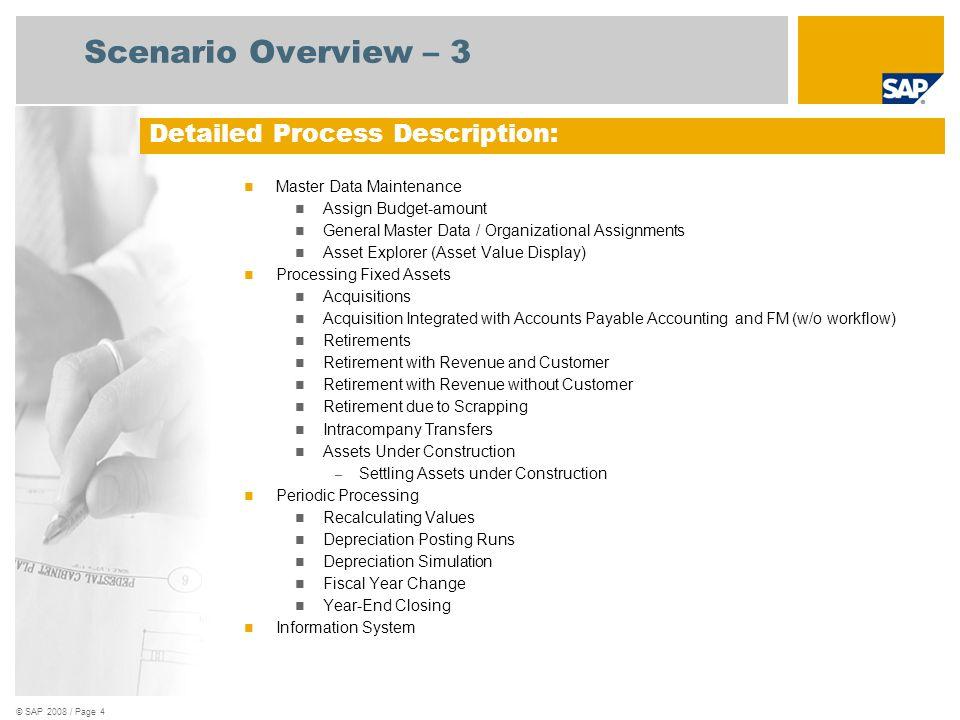 © SAP 2008 / Page 5 Process Flow