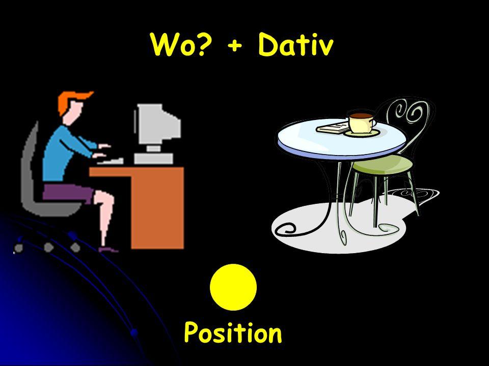 Wo? + Dativ Position