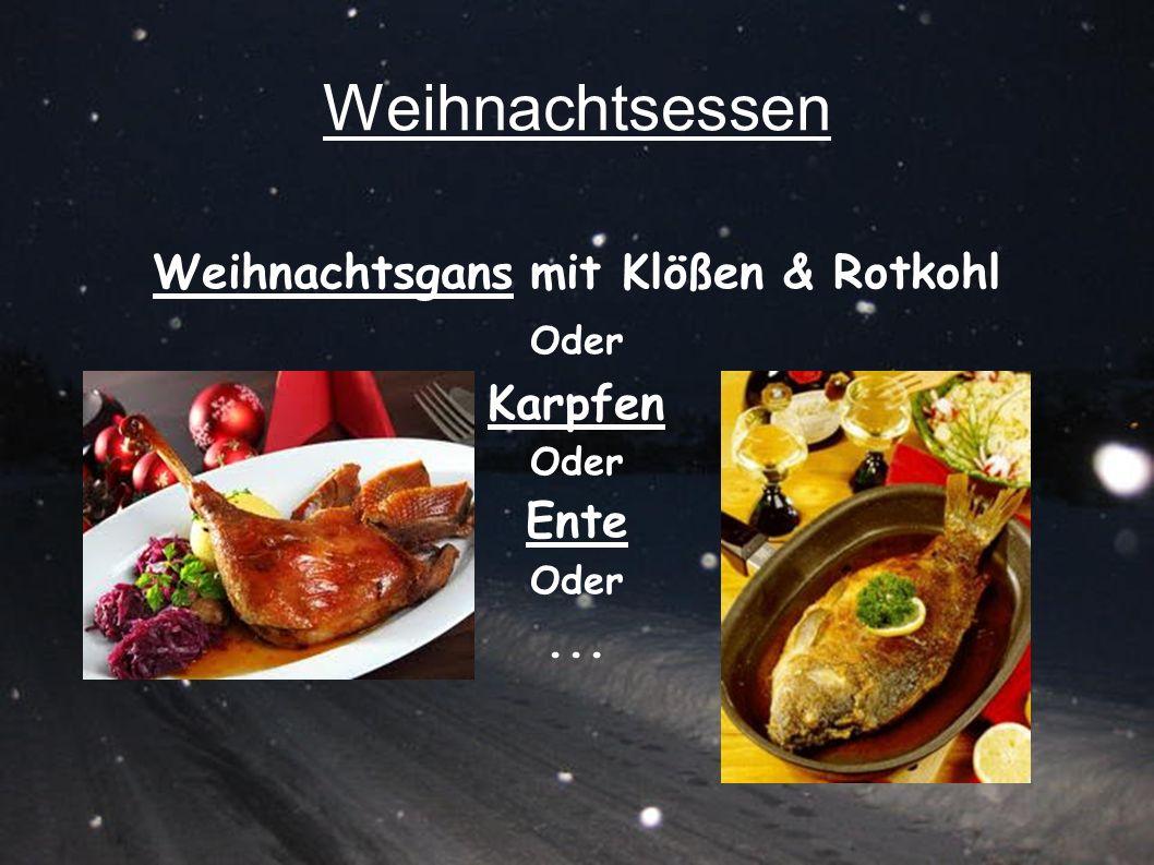 Weihnachtsessen Weihnachtsgans mit Klößen & Rotkohl Oder Karpfen Oder Ente Oder...