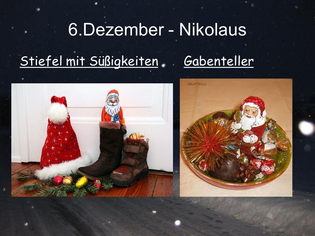 6.Dezember - Nikolaus GabentellerStiefel mit Süßigkeiten