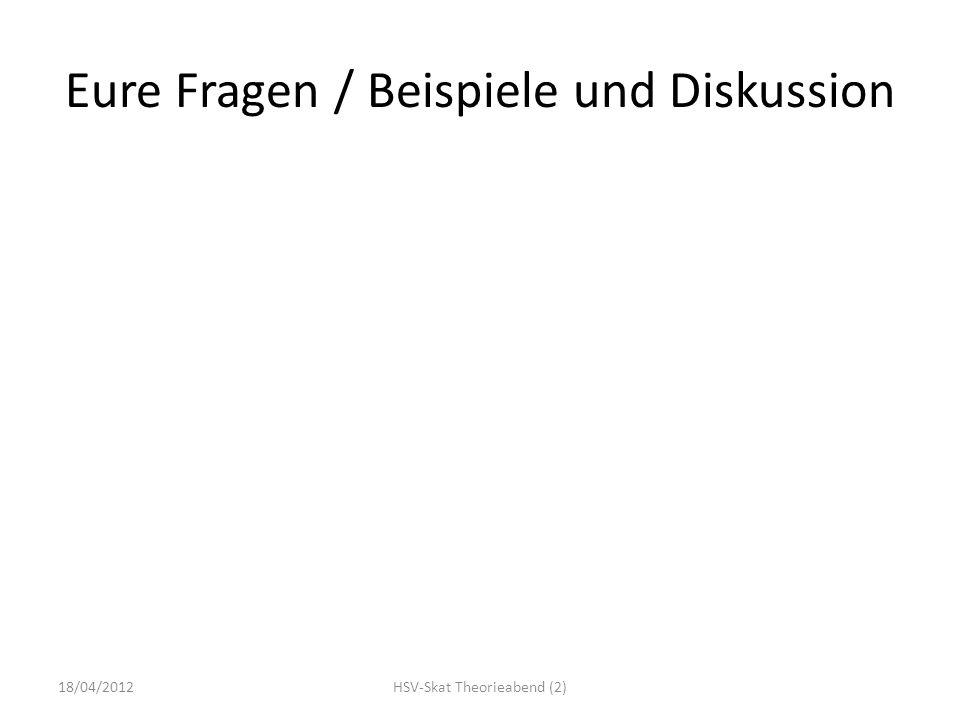 Eure Fragen / Beispiele und Diskussion 18/04/2012HSV-Skat Theorieabend (2)