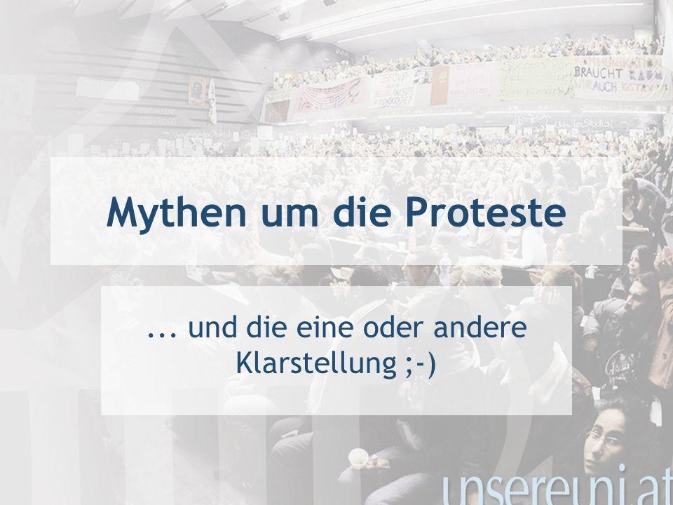 Mythen um die Proteste... und die eine oder andere Klarstellung ;-)