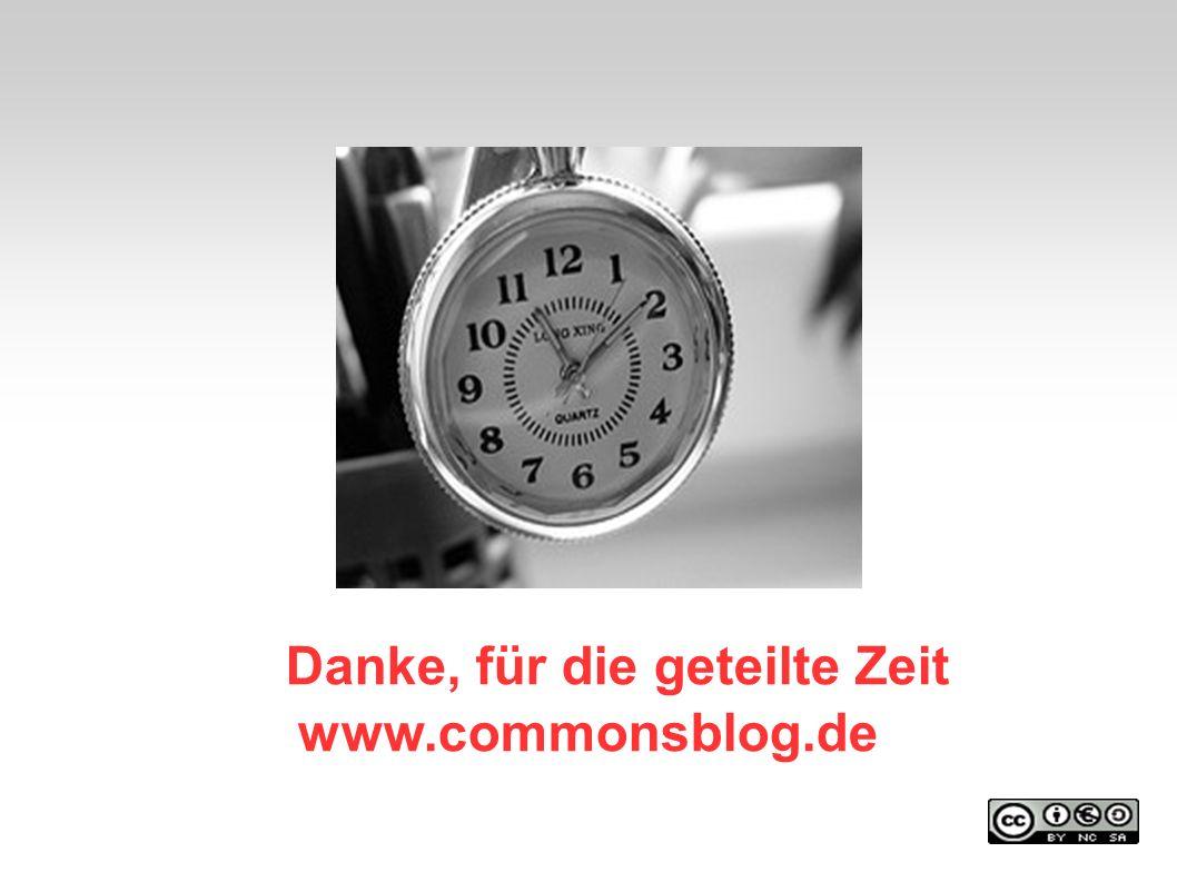 Danke, für die geteilte Zeit www.commonsblog.de