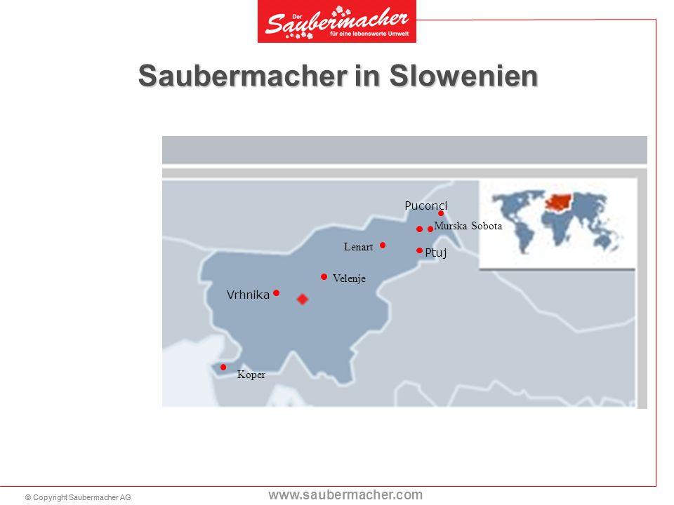 © Copyright Saubermacher AG www.saubermacher.com 11 Saubermacher in Slowenien Puconci Ptuj Vrhnika Koper Murska Sobota Lenart Velenje