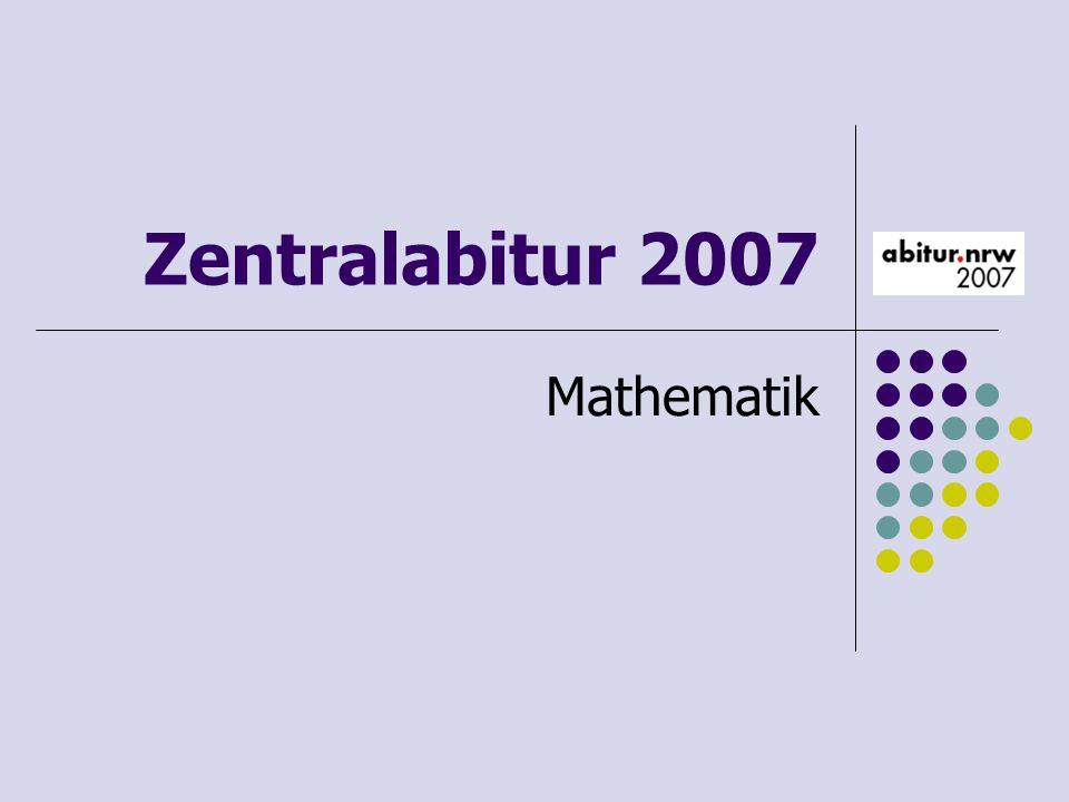 Inhaltliche Vorgaben Lineare Algebra/Geometrie - lineare Gleichungssysteme für n>2, Matrix-Vektor-Schreibweise, systematisches Lösungsverfahren für lineare Gleichungssysteme - Geraden- und Ebenengleichungen in Parameterform und Koordinatenform, Lagebeziehung von Geraden und Ebenen - Standard-Skalarprodukt mit den Anwendungen Orthogonalität und Länge von Vektoren - Alternative 1: Abbildungsmatrizen, Matrizenmultiplikation als Abbildungsverkettung - Alternative 2: Übergangsmatrizen, Matrizenmultiplikation als Verkettung von Übergängen für den Leistungskurs: - lineare Gleichungssysteme für n>2, Matrix-Vektor-Schreibweise, systematisches Lösungsverfahren für lineare Gleichungssysteme - lineare Abhängigkeit von Vektoren, Parameterformen von Geraden und Ebenengleichungen - Standard-Skalarprodukt mit den Anwendungen Orthogonalität, Winkel und Länge - Normalenformen von Ebenengleichungen, Lagebeziehungen von Geraden und Ebenen - Abstandsprobleme (Abstand Punkt-Ebene) - Alternative 1: Abbildungsmatrizen, Matrizenmultiplikation als Abbildungsverkettung, inverse Matrizen und Abbildungen, Eigenwerte und Eigenvektoren oder - Alternative 2: Übergangsmatrizen, Matrizenmultiplikation als Verkettung von Übergängen, Fixvektoren