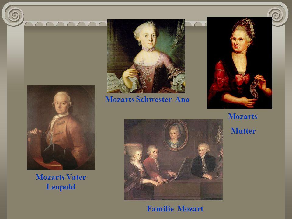 Mozarts Vater Leopold Mozarts Schwester Ana Familie Mozart Mozarts Mutter