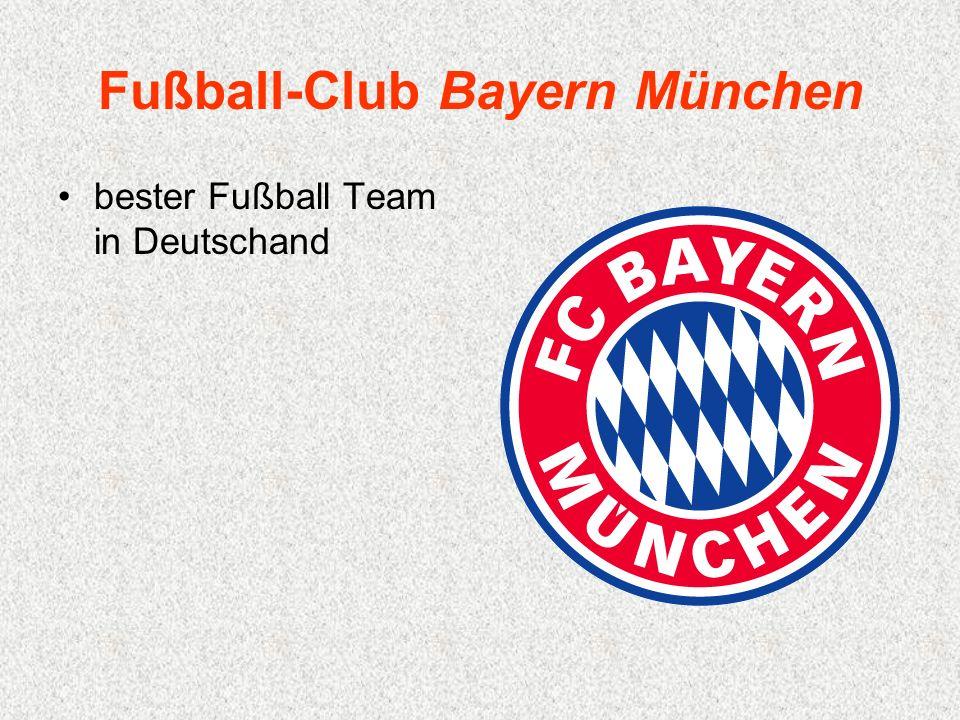 Fußball-Club Bayern München bester Fußball Team in Deutschand