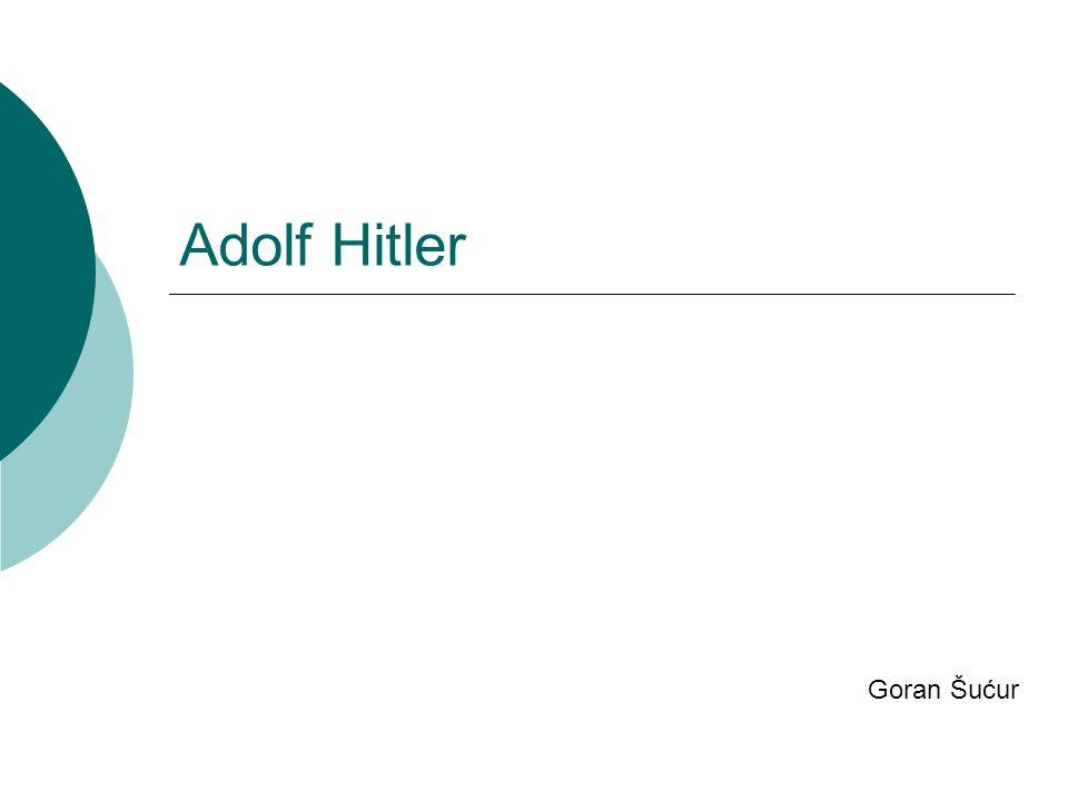 Lebensbeschreibung Er war am 20.April 1889 geboren, Am 30.