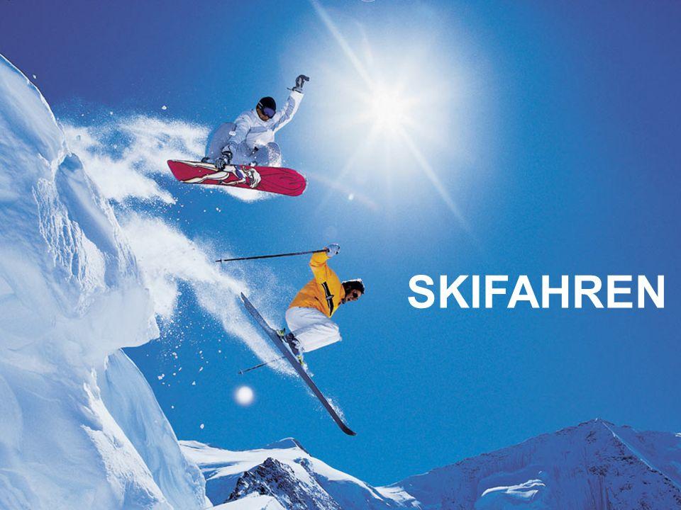 …zwei Skiern über den Schnee