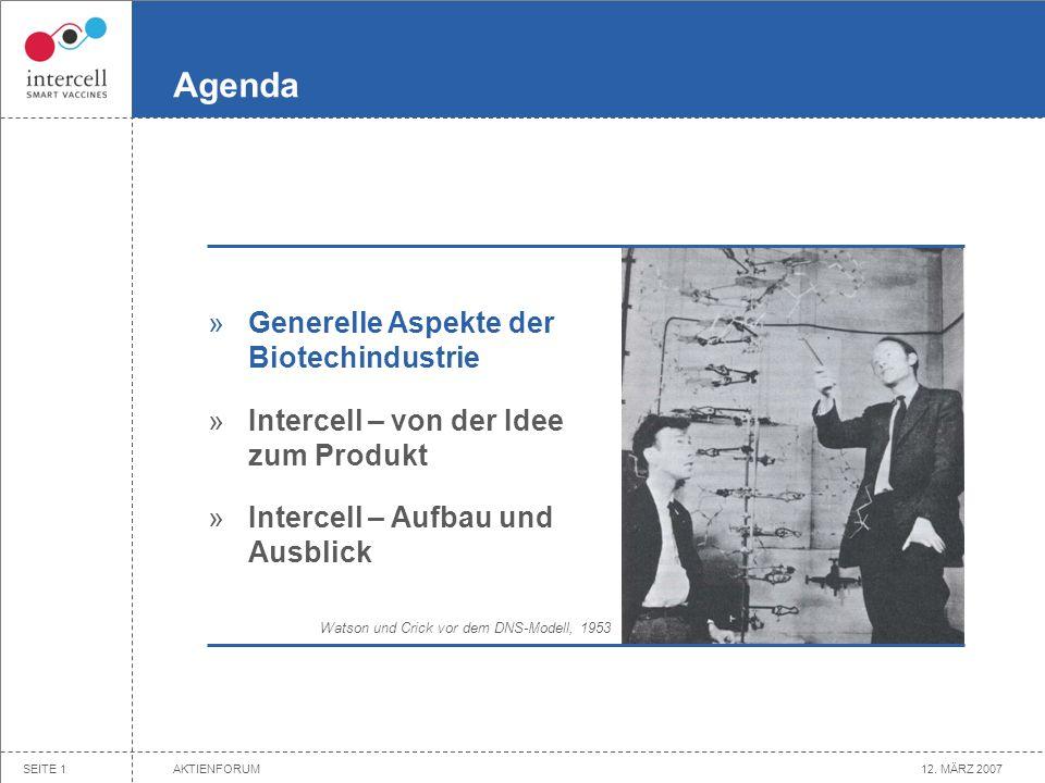 For more information be invited to: www.intercell.com Innovationen in der Impfstoffindustrie WERNER LANTHALER, 12. März 2007