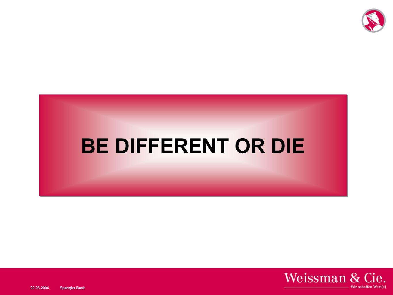 22.06.2004Spängler-Bank BE DIFFERENT OR DIE